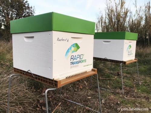 2 ruches Rapid Transports pour la biodiversité